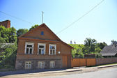 Old House on the Street in Ludza.Latvia — Stock Photo