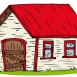 Royalty-Free Stock Vector Image: Red Roof House.