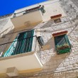 Perspective of Trani House. Apulia. — Stock Photo