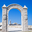 Arch of the Small Fort. Trani. Apulia. — Stock Photo