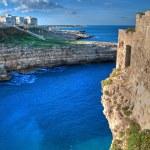 Landscape view of Polignano. Apulia. — Stock Photo