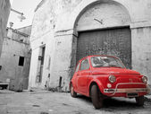 Red Classic Car. — Stock Photo