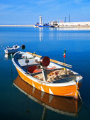 Vista del paisaje del puerto de molfetta. — Foto de Stock