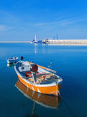 Landscape view of Molfetta port. Apulia. — Stock Photo