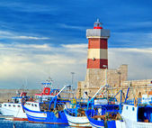 Touristic port of Monopoli. Apulia. — Stock Photo