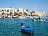 Boats at the old port of Bari. Apulia. — Stock Photo