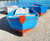 Boats moored at Monopoli seaport. Apulia. — Foto de Stock