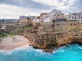 Panoramic view of Polignano a Mare. Apulia. — Stock Photo