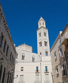 Alleyway with Cathedral. Bari. Apulia. — Stock Photo