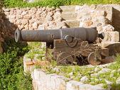 Cannon on turret defense. — Stock Photo