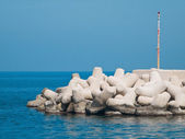 Breakwater in blue sea. — Foto de Stock