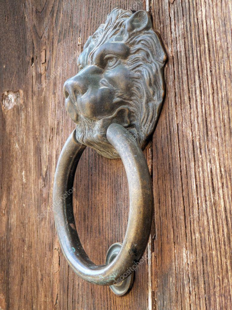 Lion head door knocker stock photo milla74 3025071 - Lion face door knocker ...