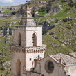 St. Pietro Caveoso Church. Sassi of Matera. — Foto de Stock