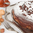 Chocolate Cake with nuts. — Stock Photo