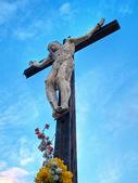 Jesus Christ on the blue sky. — Stock Photo