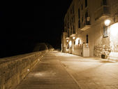 Seafront by night. Monopoli. Apulia. — Stock Photo