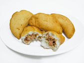 Panzerotti. Italian food. — Stock Photo