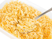 Short-cut pasta with spoon. — Stock Photo