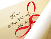 Valentine's day parchment. — Stock Photo