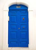 Blue Frontdoor. — Stock Photo