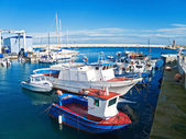 Panoramic view of Monopoli seaport. Apulia. — Stock Photo