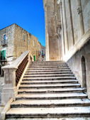 Staircase Giovinazzo Cathedral. Apulia. — Stock Photo