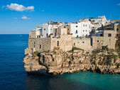 Paisaje de polignano a mare. Apulia. — Foto de Stock