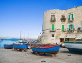 The old port of Giovinazzo. Apulia. — Stock Photo