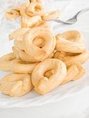 Italian Boiled Pretzels: Taralli. — Stock Photo