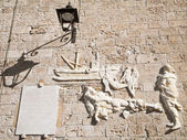 Wall inscription. Monopoli. Apuli — Stock Photo