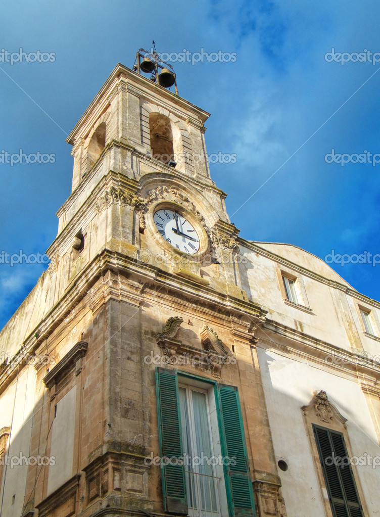 Clock tower. Martina Franca. Apulia. — Stock Photo #3039460