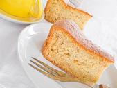 Groenten taart segment bij het ontbijt. — Stockfoto