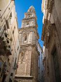 Belltower Cathedral. Monopoli. Apulia. — Stock Photo