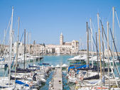 Touristic Port of Trani. Apulia. — Stock Photo