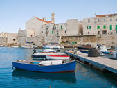 Giovinazzo seaport. Apulia. — Stock Photo