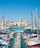 Touristic Port of Trani. Apulia. — Stock Photo