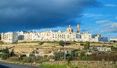 Panoramik manzaralı. Locorotondo. Apulia. — Stok fotoğraf