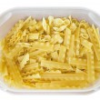 Pasta in plastic container. — Stock Photo