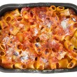 Oven baked pasta. — Stock Photo