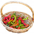 Royalty-Free Stock Photo: Chili peppers in vimini basket.