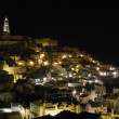 Sassi of Matera by night. Basilicata. — Stock Photo