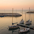 Touristic port of Giovinazzo at sunset. — Stock Photo #3063553