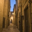 Alley by night. Giovinazzo. Apulia. — Stock Photo