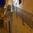 Alleyway by night. Giovinazzo. Apulia. — Stock Photo