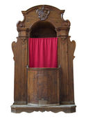 Wooden confessional. — Stock Photo