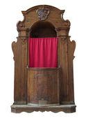 Konfesjonał drewniany. — Zdjęcie stockowe