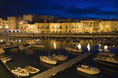 Giovinazzo port by night. Apulia. — Stock Photo