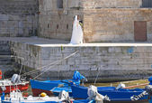 Monopoli Old Port. Apulia. — Stock Photo