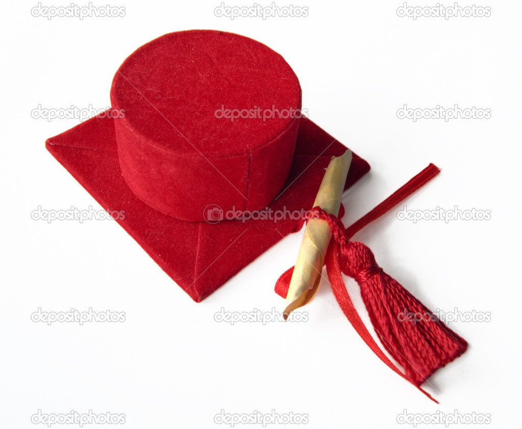 Red degree hat. — Stock Photo #3062374