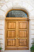 Wooden frontdoor. — Stock Photo